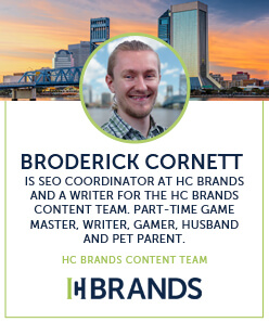 HC Brands Author Bio - Broderick Cornett