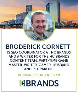 HC Brands Author Bio - Broderick Cornett