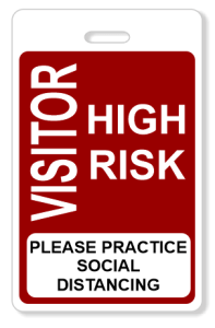 High Risk Visitor Badge