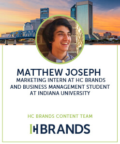 Matthew joseph, marketing intern at HC Brands and business management student at Indiana university