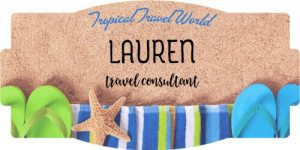 Shop this Beach Themed Name Tag