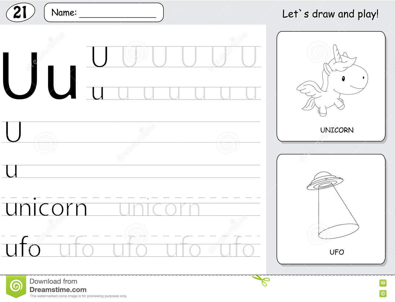Unicorn Tracing Worksheets For Kids