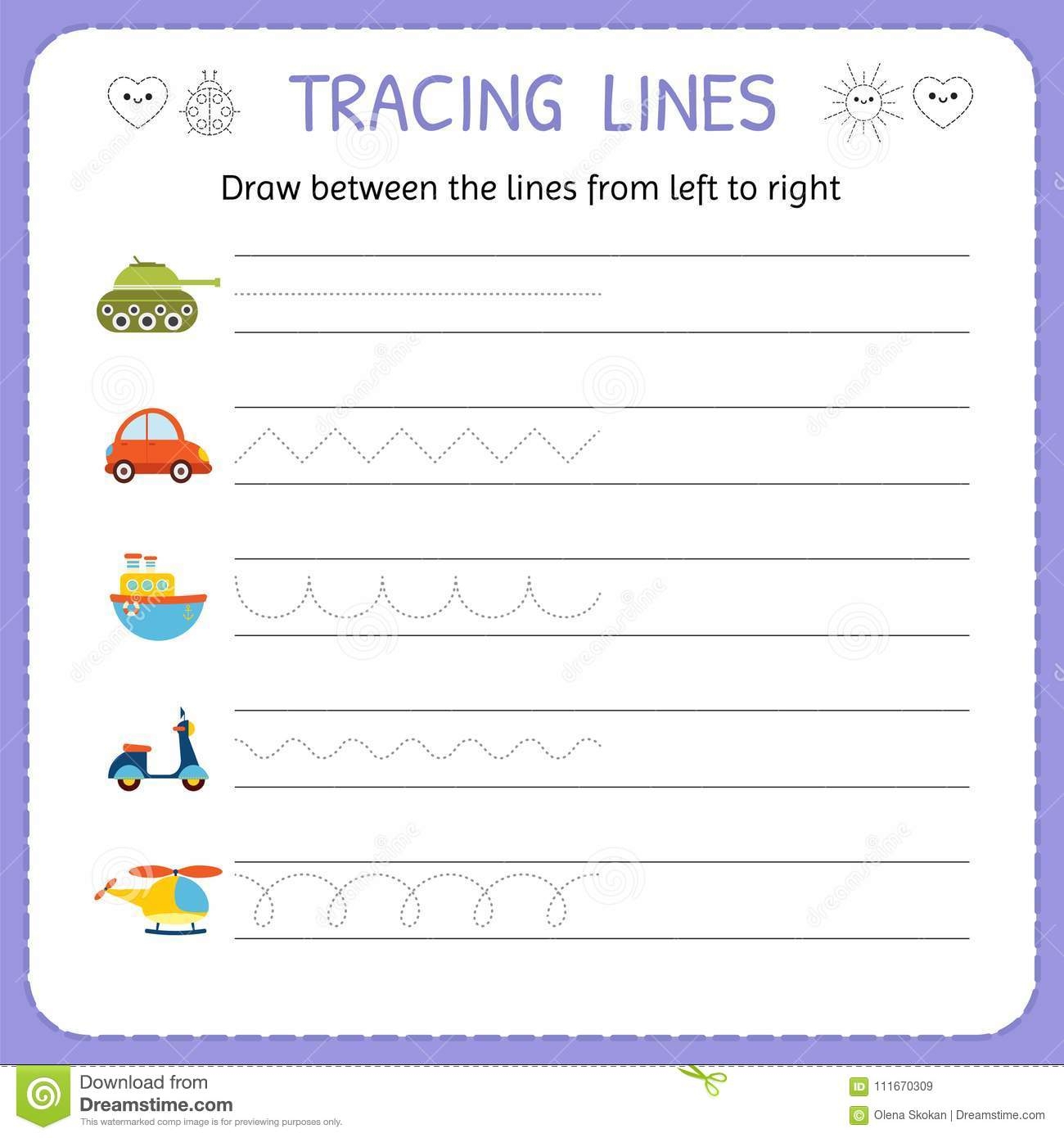 Tracing Left To Right Worksheets