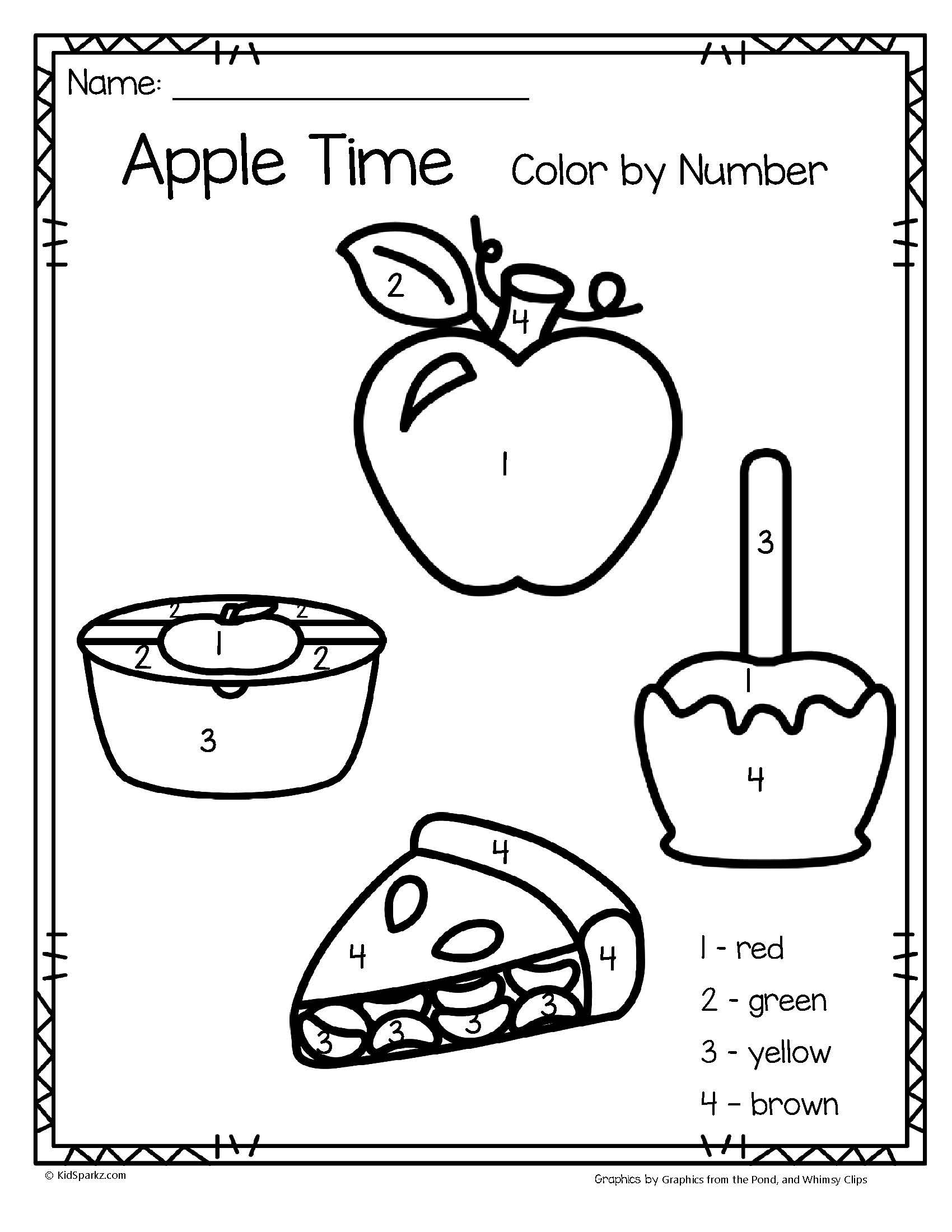Free Apple Tracing Worksheets