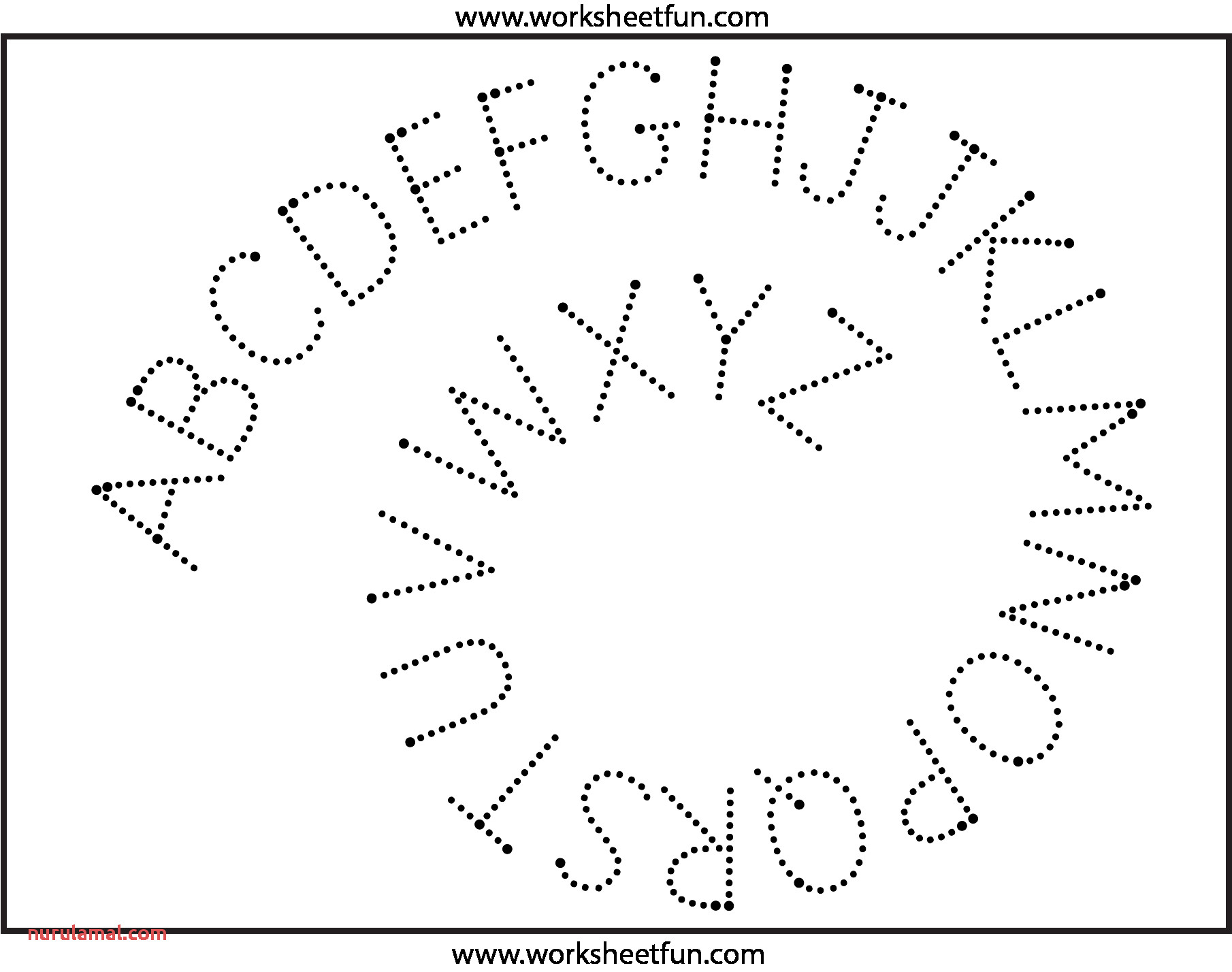 D Nealian Tracing Printable Worksheets For The Letter X