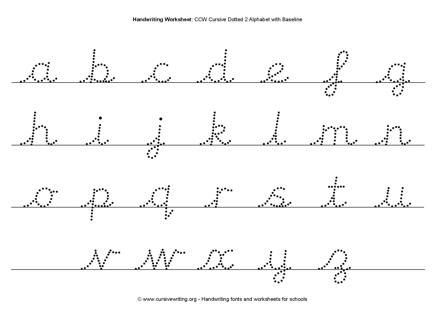 Free Printable Tracing Cursive Worksheets A Z