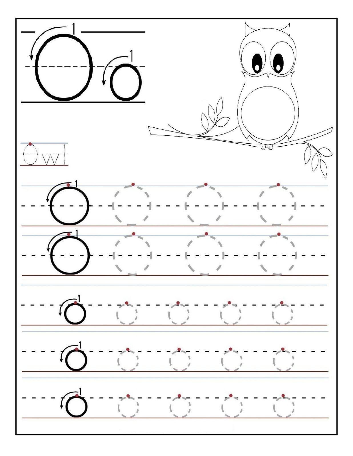 Science Preschool Tracing Worksheet