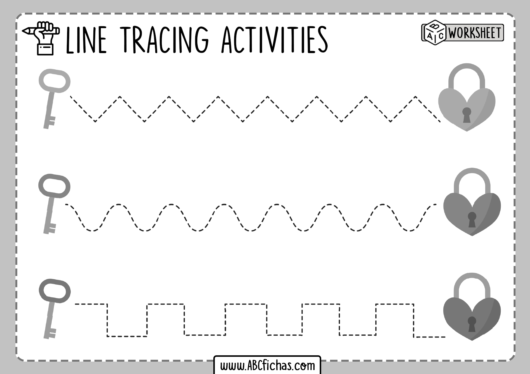 Pre Writing Tracing Worksheets