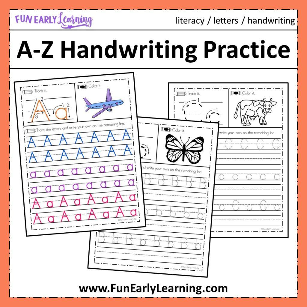 Cursive Alphabet Tracing Worksheets A Z