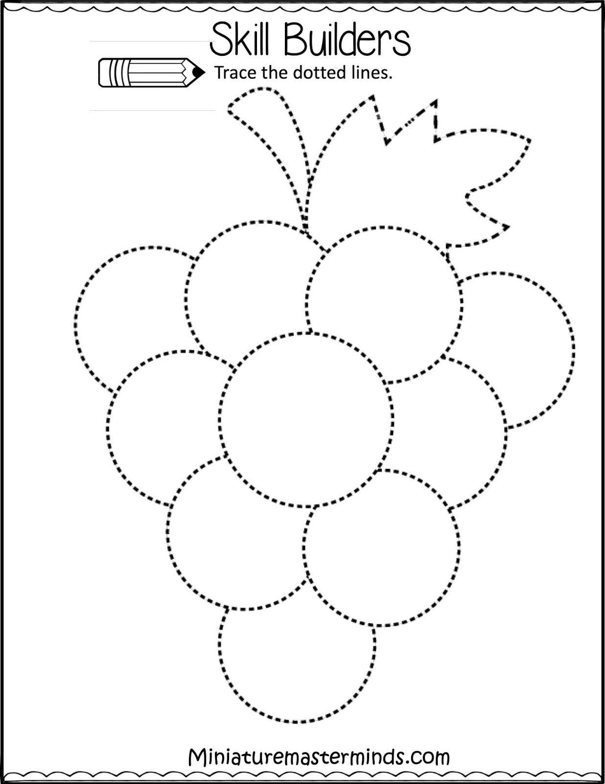 Drawing Tracing Worksheets