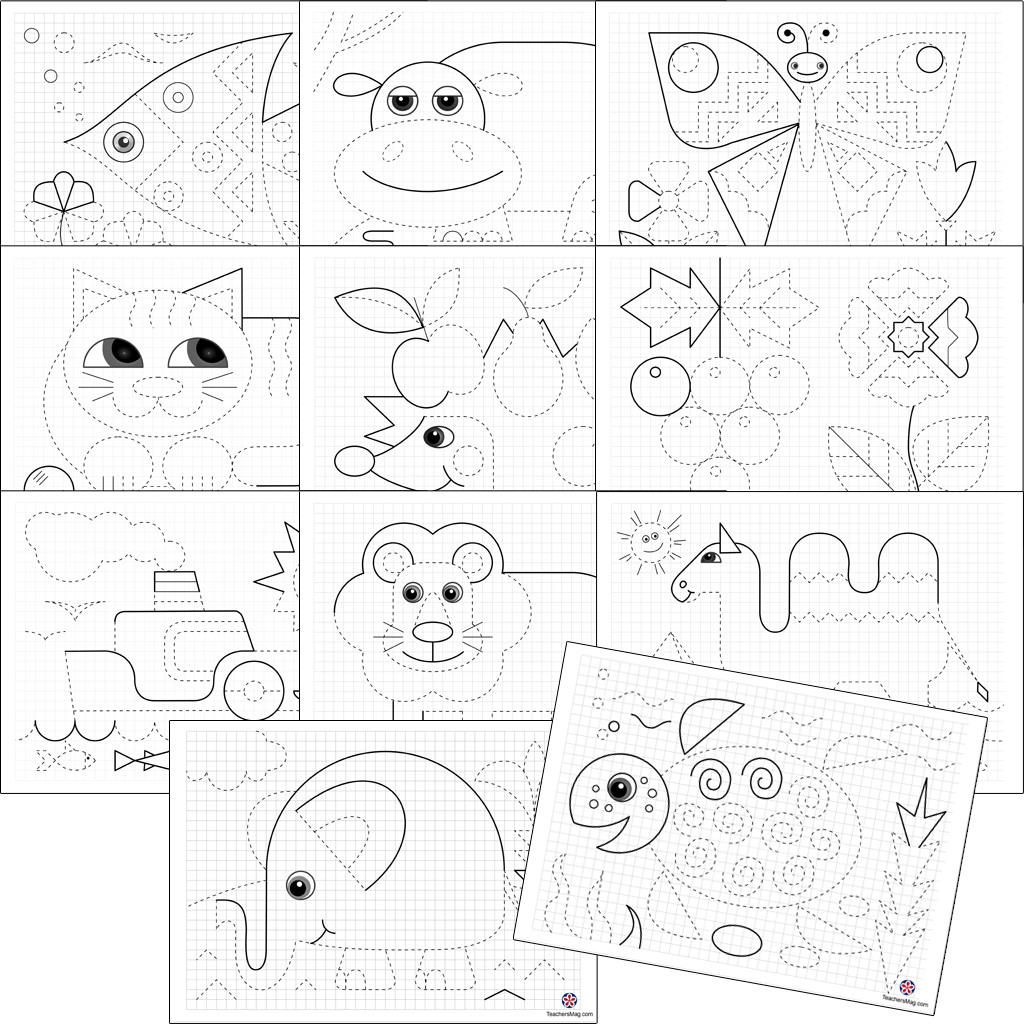 Preschool Animal Tracing Worksheets
