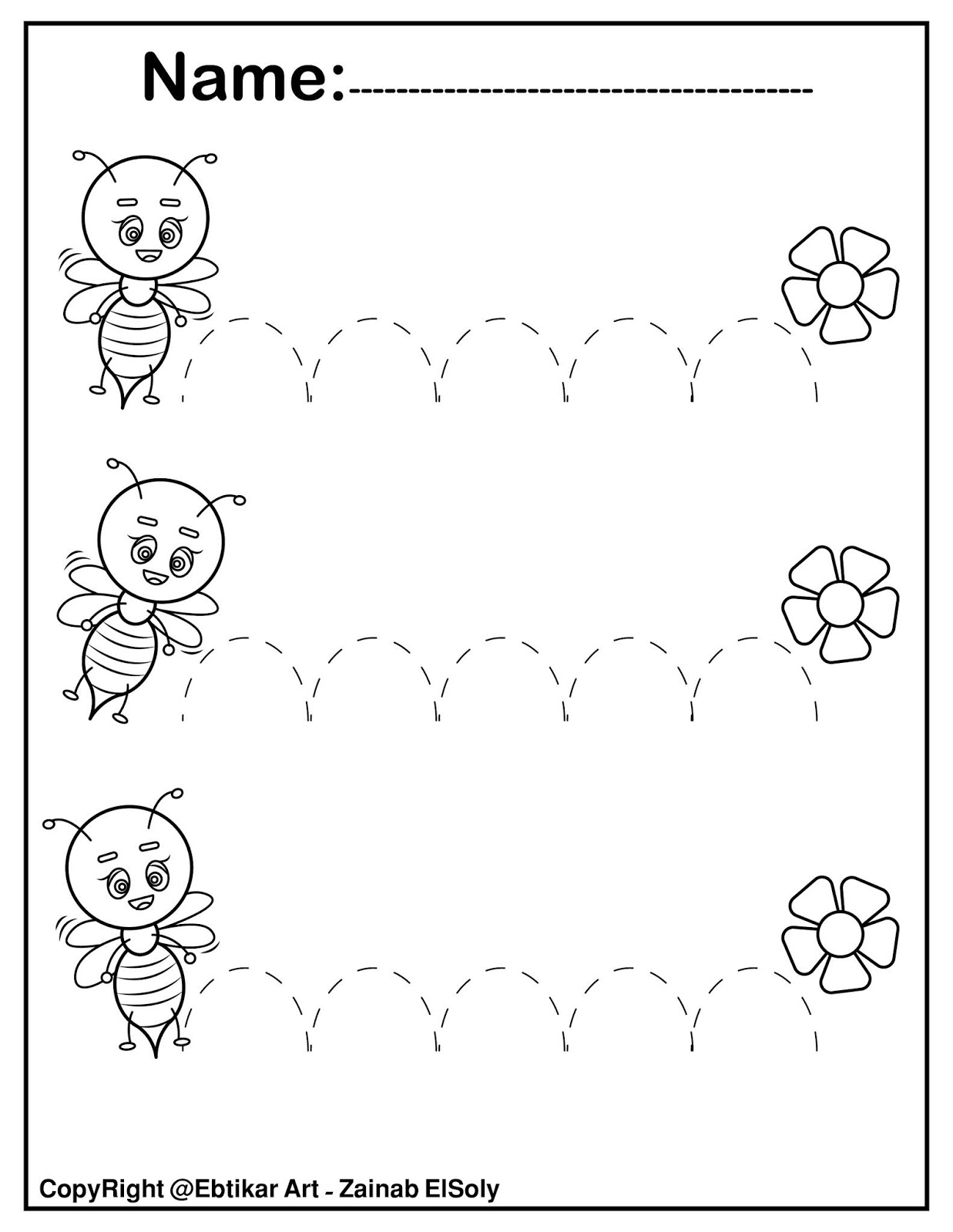 Free Printable Tracing Lines Down Worksheets For Preschool