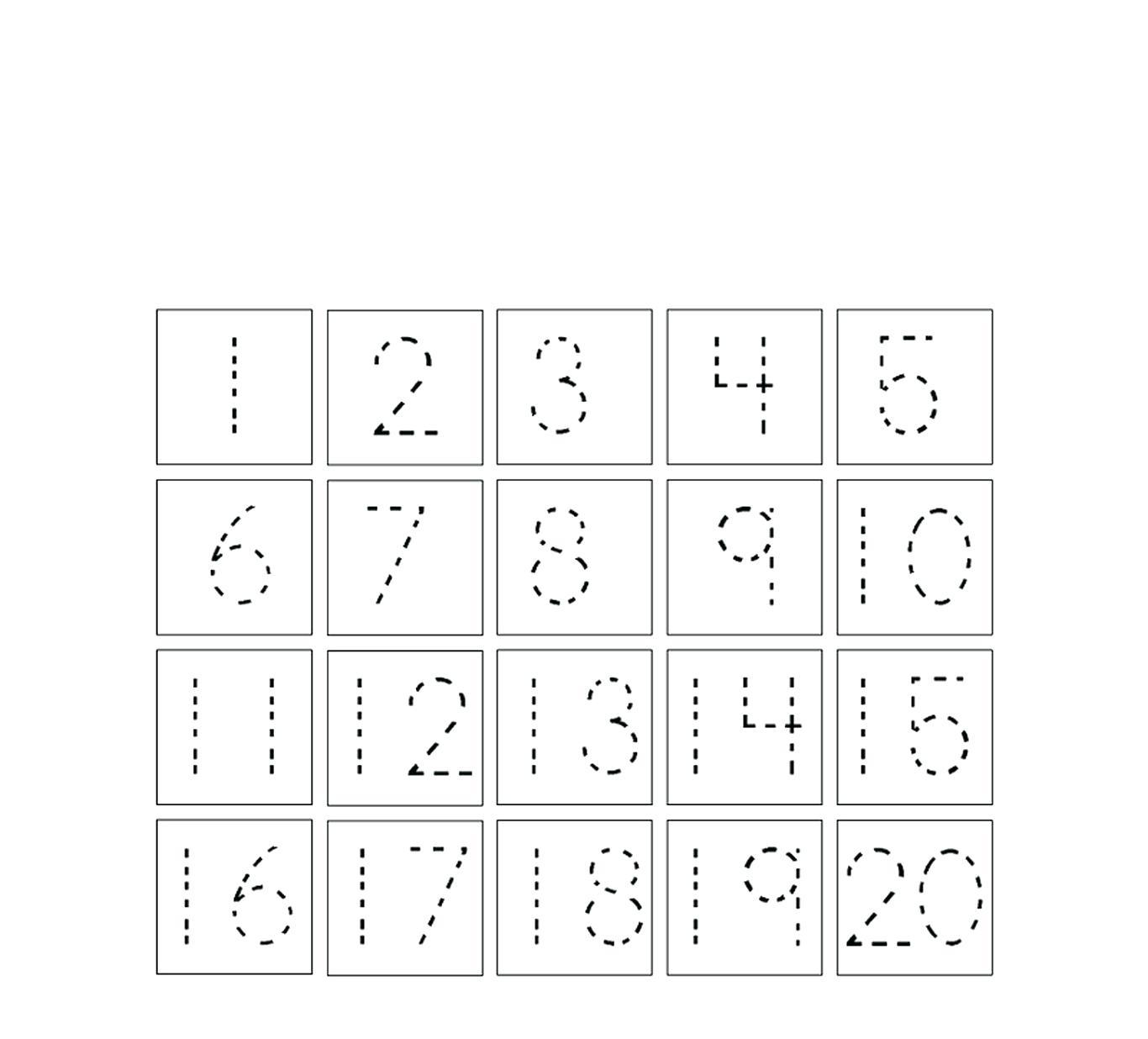 Tracing Numbers For Preschoolers Free Worksheet