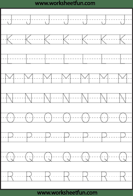 Alphabet Tracing Handwriting Worksheets