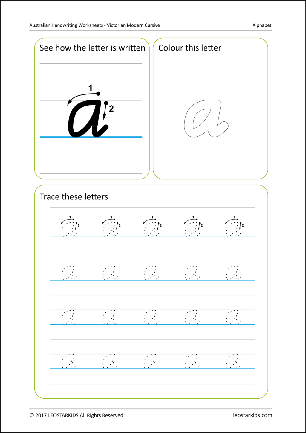 Nelson Handwriting Tracing Worksheets