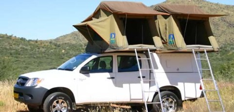 Group X – 4×4 Toyota Double Cab 2 tents
