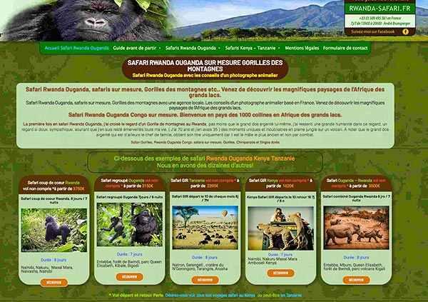 Voyage safari et Gorilles au Rwanda Ouganda