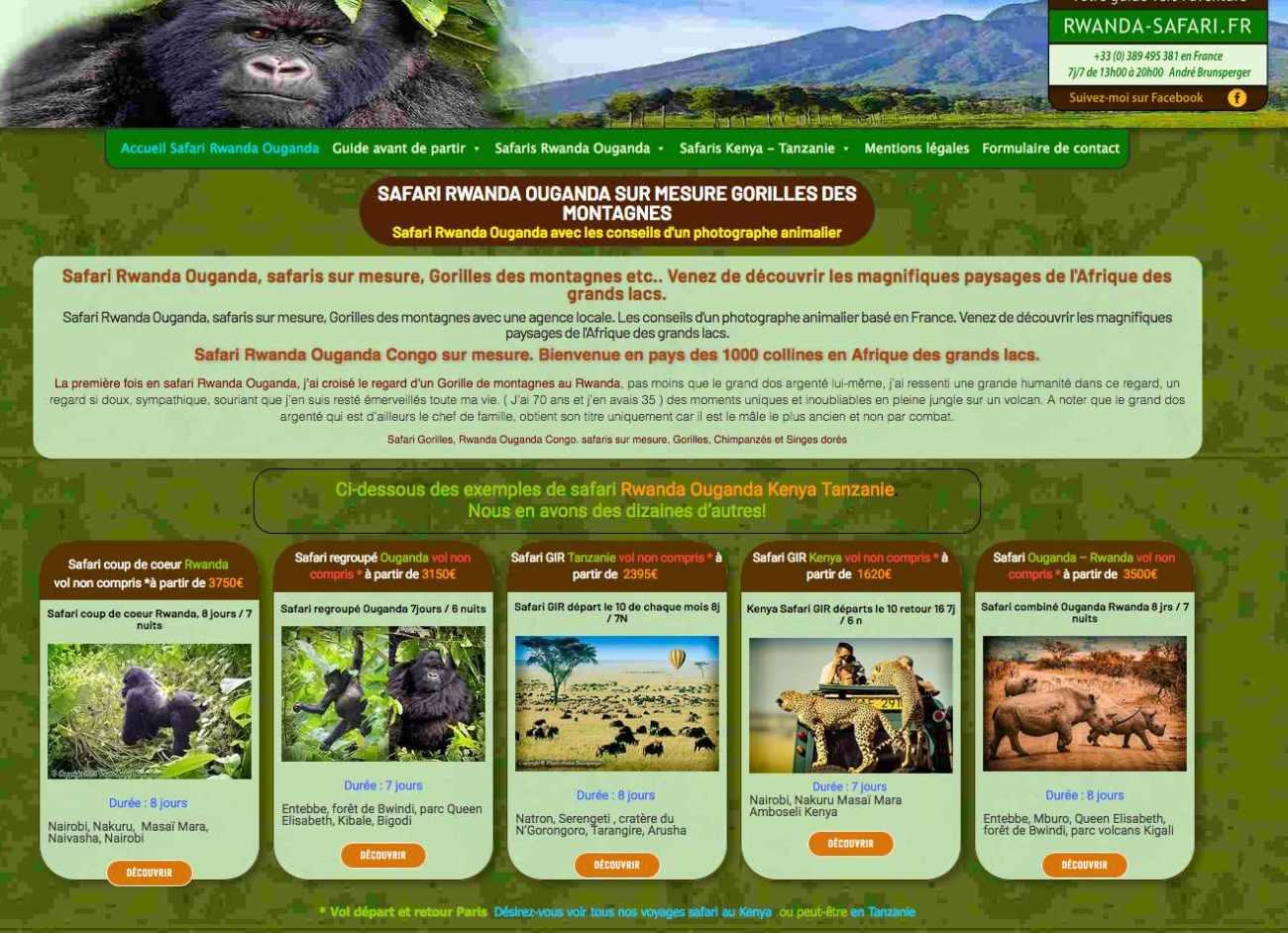 Voyage safari Gorilles Rwanda Ouganda