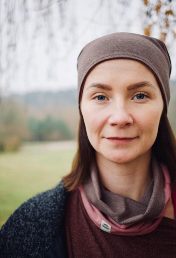 Moteriška kepurė rudeniui - Dvipusė Rausva/Rusva
