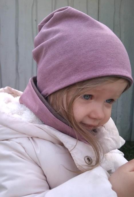 Moteriška kepurė rudeniui '2 in 1' Rausva ir Rusva
