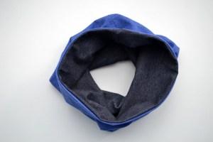 Kaklo movas - Dvipusis kaklo šildukas Mėlynas-Pilkas