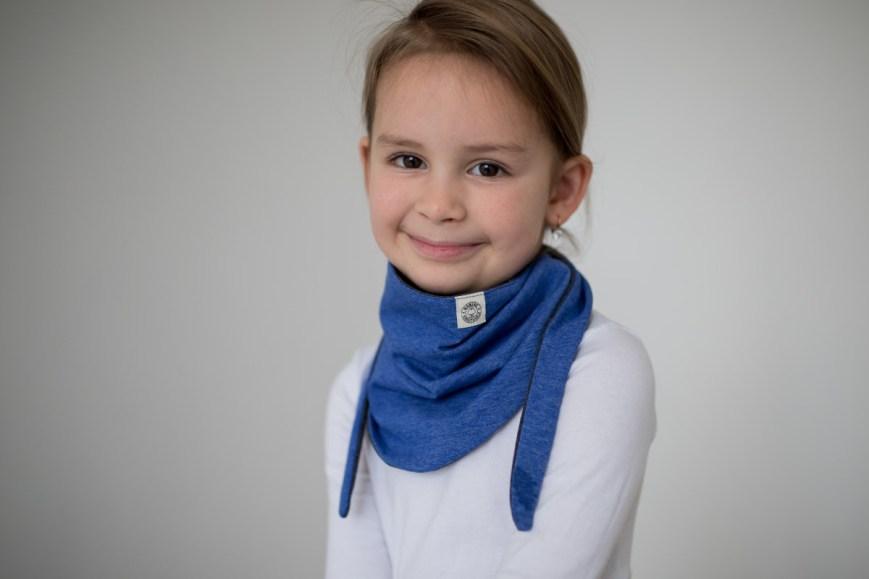 Kaklaskarė '2 in 1' mėlyna ir pilka