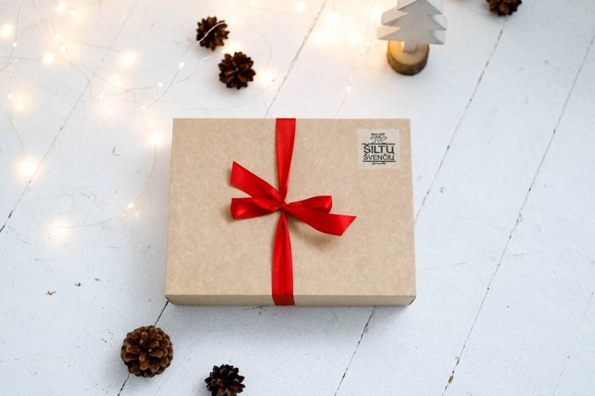 Kalėdinė dovana - vilnos tapukai dėžutėjė