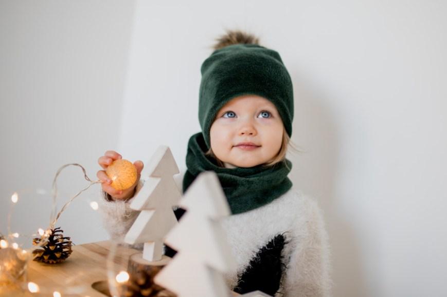 Šiltas kaklo movas vaikui ir suaugusiam 'SMARAGDAS'