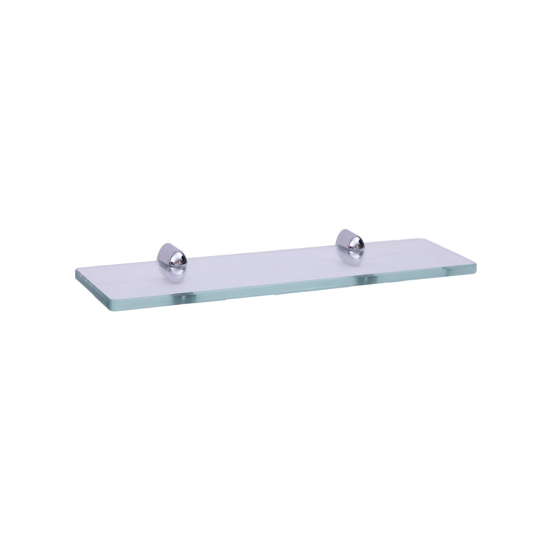 organiseurs paniers etageres chrome kes 14 pouces salle de bains en verre trempe tablette 8 mm epais mural 35 cm urbanbat org