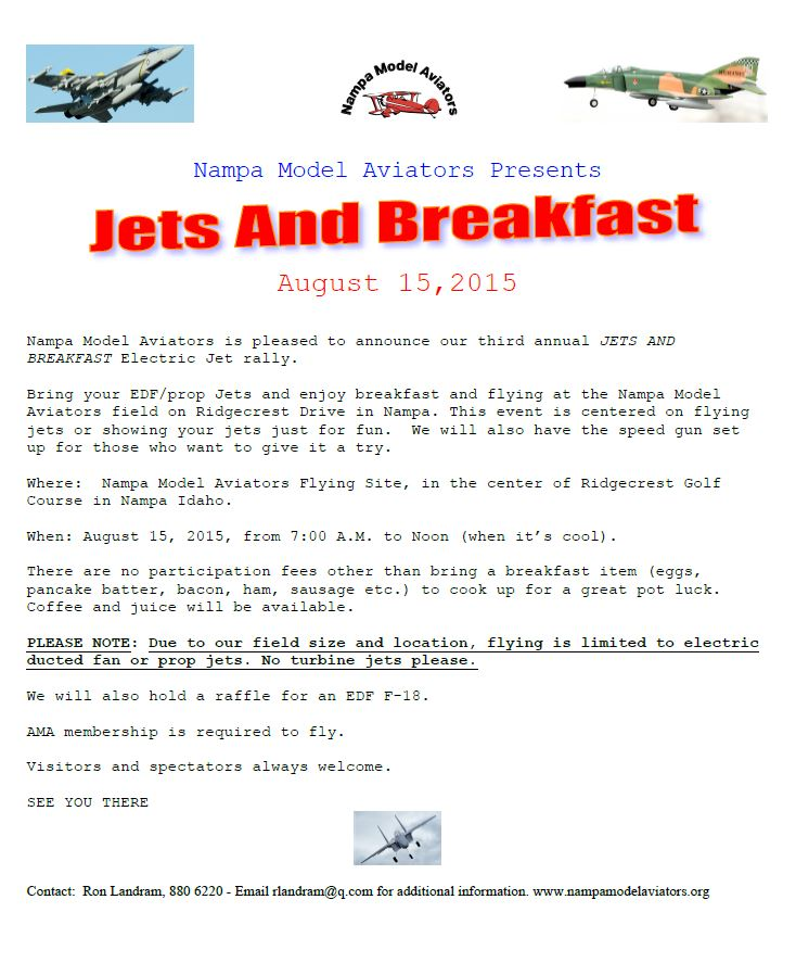 Jets and Breakfast 2015