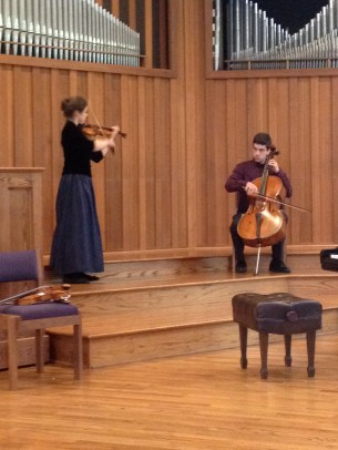 Sarah Hall violin and Aaron Hall Cello
