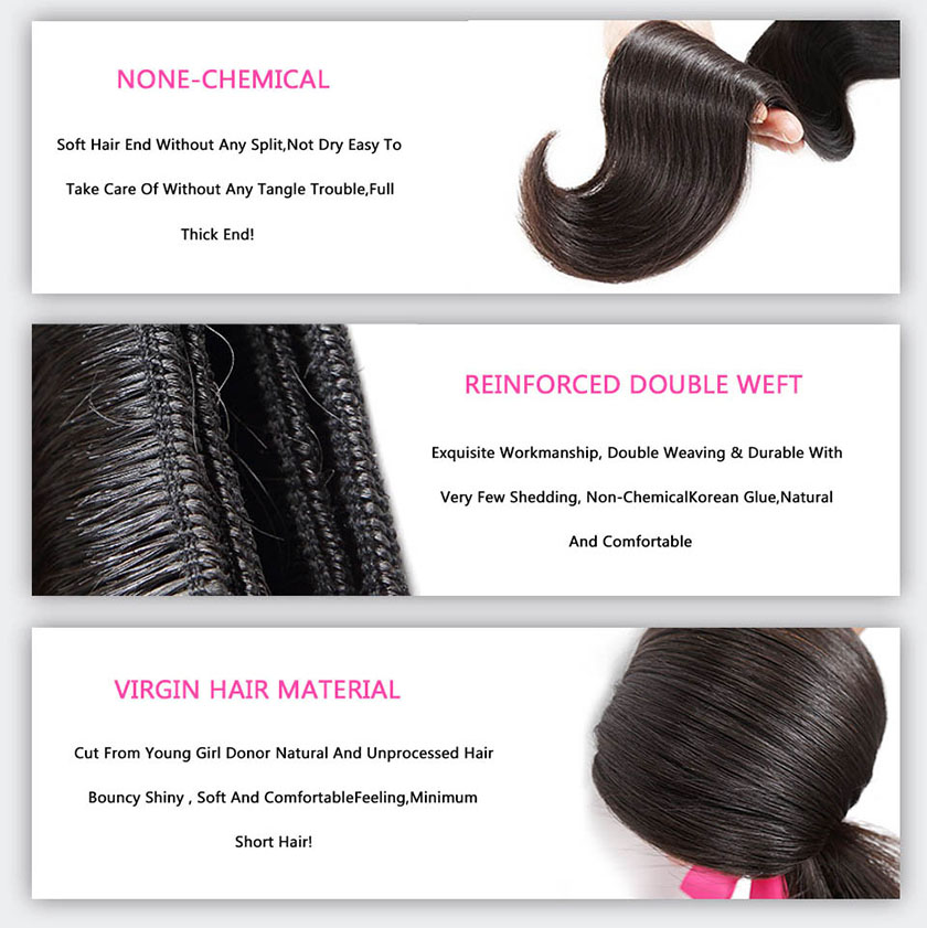 Kinky straight brazilian hair