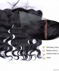silk base frontal top grade virgin hair silk top frontal 1b color