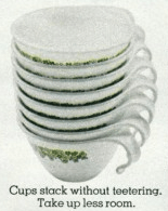corelle, cups, 1970s, corning