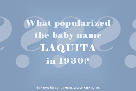 mystery baby name, laquita, 1930
