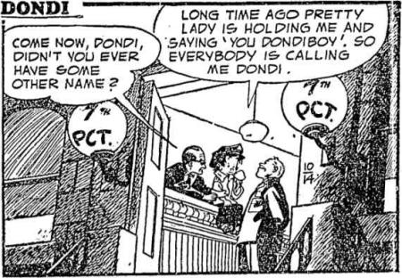 dondi, name, 1955, 1950s, comic strip