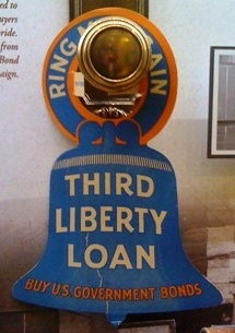 """Ring Me Again"" Third Liberty Loan doorknob sign"