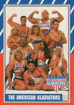 american gladiators trading card