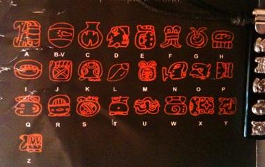 mayan alphabet supposedly