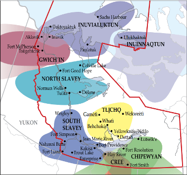 map of languages in N.W.T.