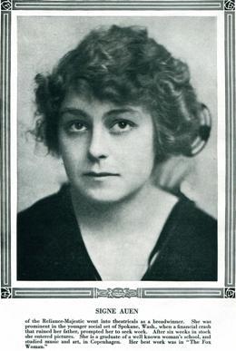 Signe Auen in Photoplay, Oct. 1915