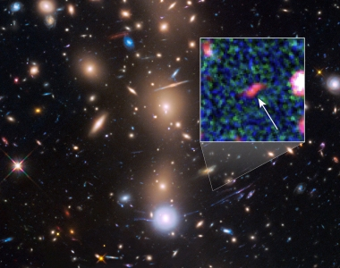 Tayna, faint galaxy from early universe