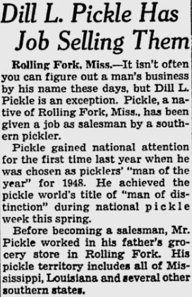 man named dill pickle