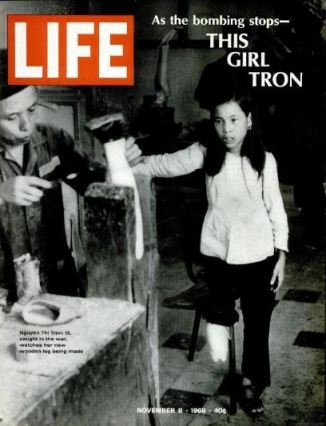 Tron, Vietnamese girl, wooden leg, LIFE magazine, 1968