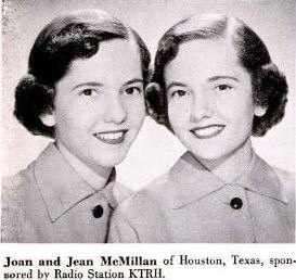 joan and jean mcmillan, twins, 1949