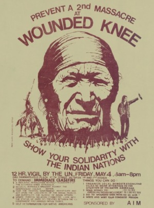 """Show your Solidarity with the Indian Nations"" poster"
