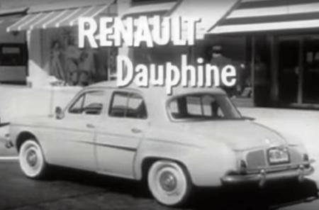 Renault Dauphine, commercial, car, retro