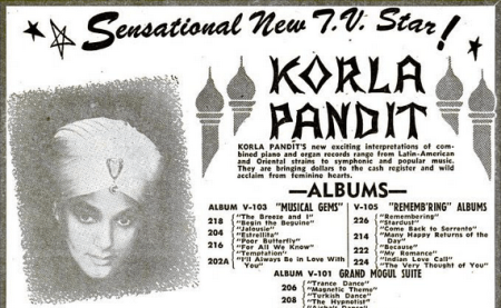 music, 1950s, korla pandit, advertisement