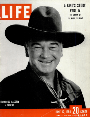 hopalong cassidy, cover of Life magazine, 1950