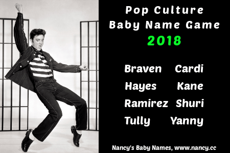 pop culture baby name game 2018